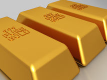 Gold bars - bullion Stock Photo