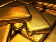 Gold bars. Close up shot of gold bars royalty free stock images
