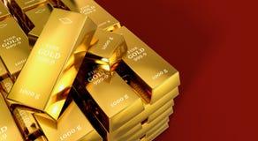 Gold bars Royalty Free Stock Photos