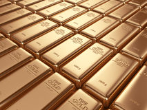 Gold bars. Concept of banking 3D Stock Image