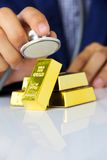 Gold bars concept Stock Image