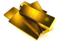 Gold bars 3d concept Royalty Free Stock Image