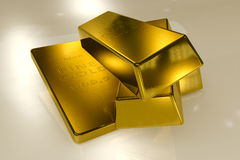 Gold bars 3d concept Stock Photo