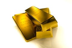 Gold bars 3d concept. Gold bars Three Dimension concept royalty free stock image
