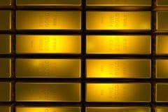 Gold bars 3d concept Stock Photos