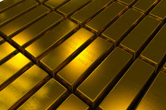 Gold bars 3d concept Royalty Free Stock Images
