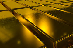 Gold bars 3d concept Royalty Free Stock Photos