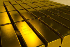 Gold bars 3d concept Stock Image