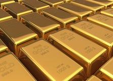 Gold bars 3d illustration Stock Photos