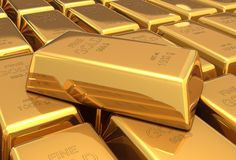 Gold bars 3d illustration Royalty Free Stock Image