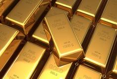 Gold bars 3d illustration Stock Photography