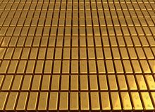 Gold bars 3d illustration Stock Image