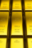 Gold bars (with DOF effect) Royalty Free Stock Image