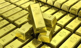 Gold bars. Financial concept. Royalty Free Stock Image