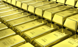 Gold bars. Financial concept. Stock Image