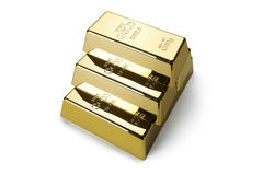 Gold bars and Financial concept Royalty Free Stock Photography