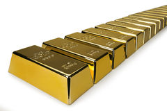Gold bars and Financial concept Royalty Free Stock Photo