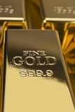 Gold bars and Financial concept Stock Image
