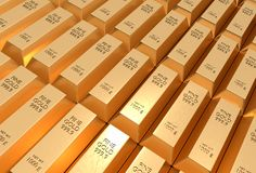 Gold bars - financial success and investment concept. Gold bars or ingot - financial success and investment concept Royalty Free Stock Photos