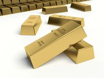 Gold bars. Gold reserves concept. Royalty Free Stock Image