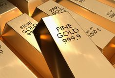 Gold bars - financial success and investment concept. Gold bars or ingot - financial success and investment concept Stock Photography