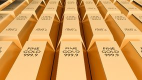 Gold bars - financial success and investment concept stock footage
