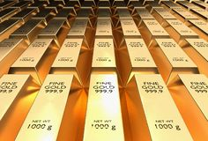 Gold bars - financial success and investment concept royalty free illustration