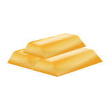 Gold bars isolated Stock Images