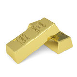 Gold bars. Isolated render on a white background Royalty Free Stock Photo