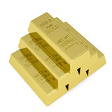 Gold bars. Isolated render on a white background Royalty Free Stock Photography