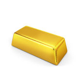 Gold bars. Isolated on a white background stock illustration