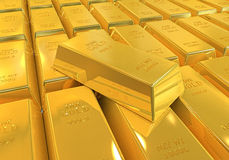 Gold Bars Isolated Stock Photos