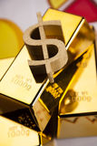 Gold bars! Money and financial Royalty Free Stock Photography