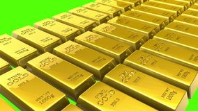 Gold bars stock video footage