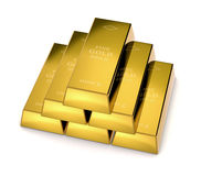Gold bars Stock Image