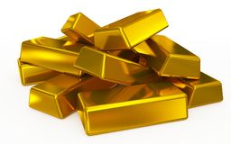 Gold bars pile Royalty Free Stock Images