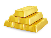 Gold bars pyramid Stock Photo
