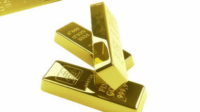 Gold bars pyramid 3d animation High-definition, stock footage