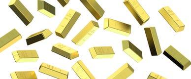 Gold bars rain Royalty Free Stock Photos