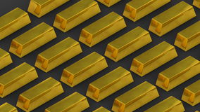 Gold bars and riches. Unimaginable wealth. loopable moving stacks of gold bars stock video