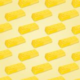 Gold Bars Seamless Pattern Royalty Free Stock Photography