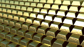 Gold Bars side Royalty Free Stock Photo