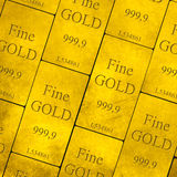 Gold Bars Stack Royalty Free Stock Photography