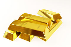 Gold bars stack Stock Photography