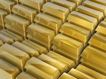 Gold bars steps Royalty Free Stock Images