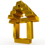 Gold bars structure Royalty Free Stock Photo