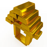 Gold bars structure Royalty Free Stock Image