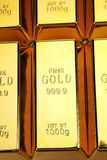 Gold bars texture Royalty Free Stock Photography