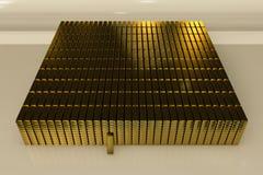 Gold bars three dimension concept Background Stock Photo