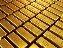 Gold bars. Ultra hq 3d render Stock Image